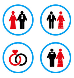 married persons rounded icons vector image