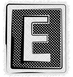 Polka Dot Font LETTER E vector image