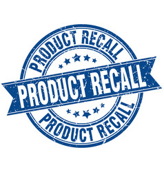 product recall round grunge ribbon stamp vector image