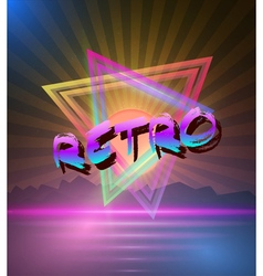 Retro Music Abstract Poster Cover 1980s Style vector image