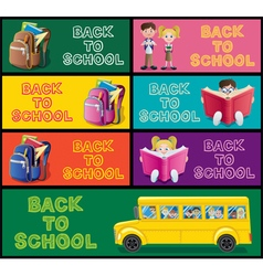School Banner Set Part 1 vector image vector image