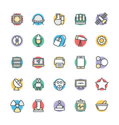 Science and Technology Cool Icons 2 vector image vector image
