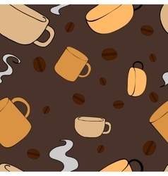 Seamless Pattern with crockery vector image