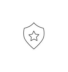 security shield star icon vector image vector image