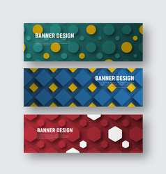 set of banners for a web site with different vector image vector image