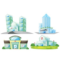 Set of hospital buildings vector image vector image