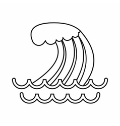 Tsunami wave icon outline style vector