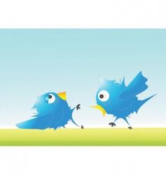Twitter fight vector
