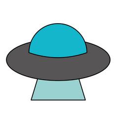 ufo aliens saucer space vector image