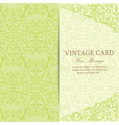 Vintage card green vector