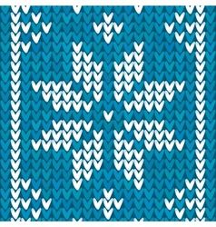 Blue christmas embroidery background vector