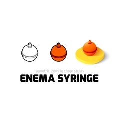Enema syringe icon in different style vector