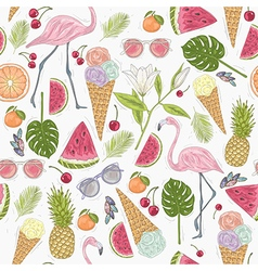 Seamless summer pattern vector