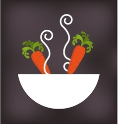 Dish with vegetable menu vector