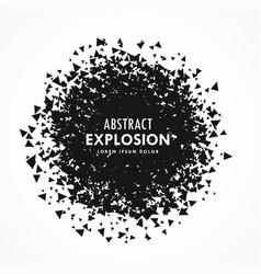 Abstract particles explosion grunge background vector