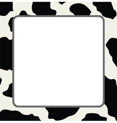 Abstract cow skin texture vector