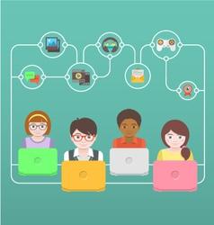 Kids Online vector image