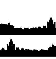 Moscow city silhouette skyline vector