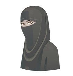 Woman in niqab vector