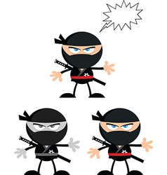 Cartoon ninja vector