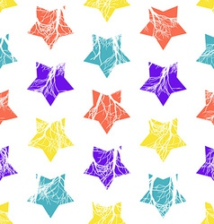 Abstract Colorful Stars Seamless Pattern vector image