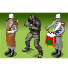 Isometric foreign legion militar people vector