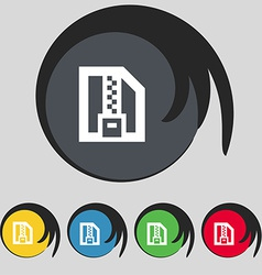 Archive file download compressed zip zipped icon vector