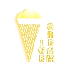 Flat icon ice cream with shadow vector