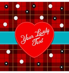 Cloth background with heart vector