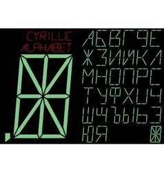 The cyrillic alphabet indicator vector