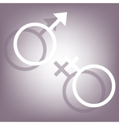 Sex symbol icon vector