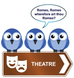 Theatre sign vector