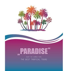 Background with tropical paradise vector