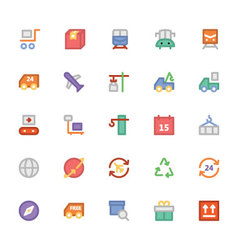 Logistics delivery colored icons 2 vector