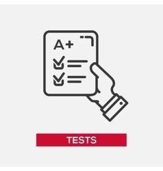 Tests - single icon vector