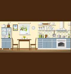 a classic kitchen vector image vector image
