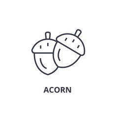 acorn line icon outline sign linear symbol vector image