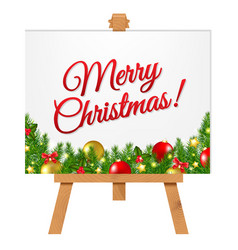 banner with christmas border vector image vector image