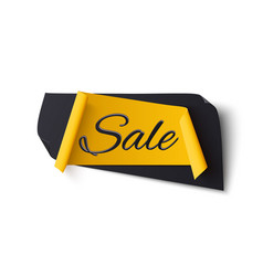 black and yellow abstract sale banner isolated on vector image