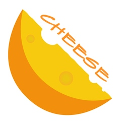 Cheese EPS10 vector image vector image