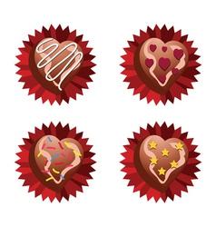 Choco Love vector image vector image