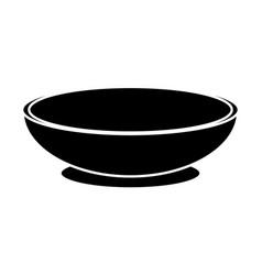 contour bowl to prepare delicious and healthy vector image