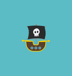 flat icon ship element of vector image vector image