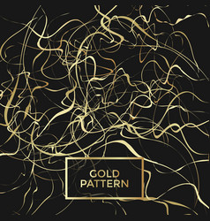 gold curly pattern vector image vector image