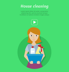 House cleaning banner vector