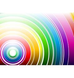 light rainbow vector image