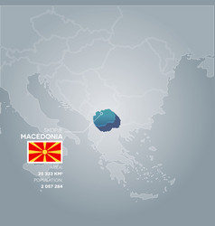 macedonia information map vector image vector image