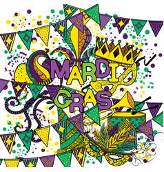 Mardi gras or shrove tuesday vector