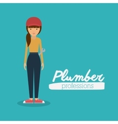 plumber woman design vector image