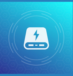 Power bank icon vector